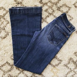 7 For All Mankind Wide Leg Low Rise Jeans